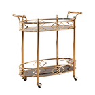 Furniture Bar Trolley Bar Cart Furniture 2 Teir Gold Metal Kitchen Serving Bar Trolley Cart For Dining Room