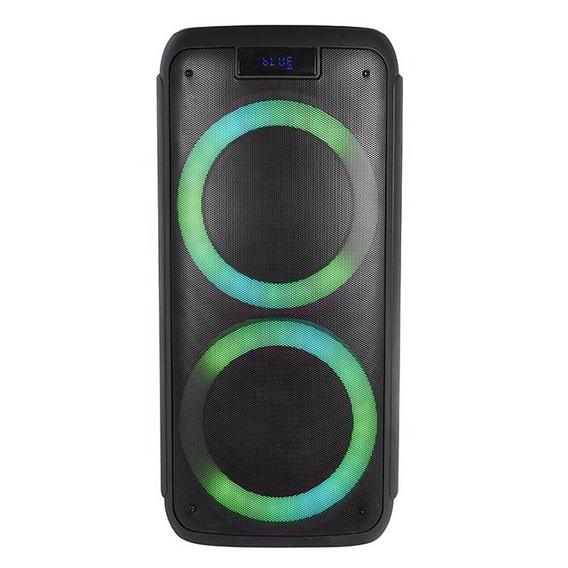 Фабрика Dual 8-дюймовый Профессиональный для активного отдыха на открытом воздухе для аудио светодиодный диско ди-джей портативный беспроводной BT вечерние внутренний звуковой динамик