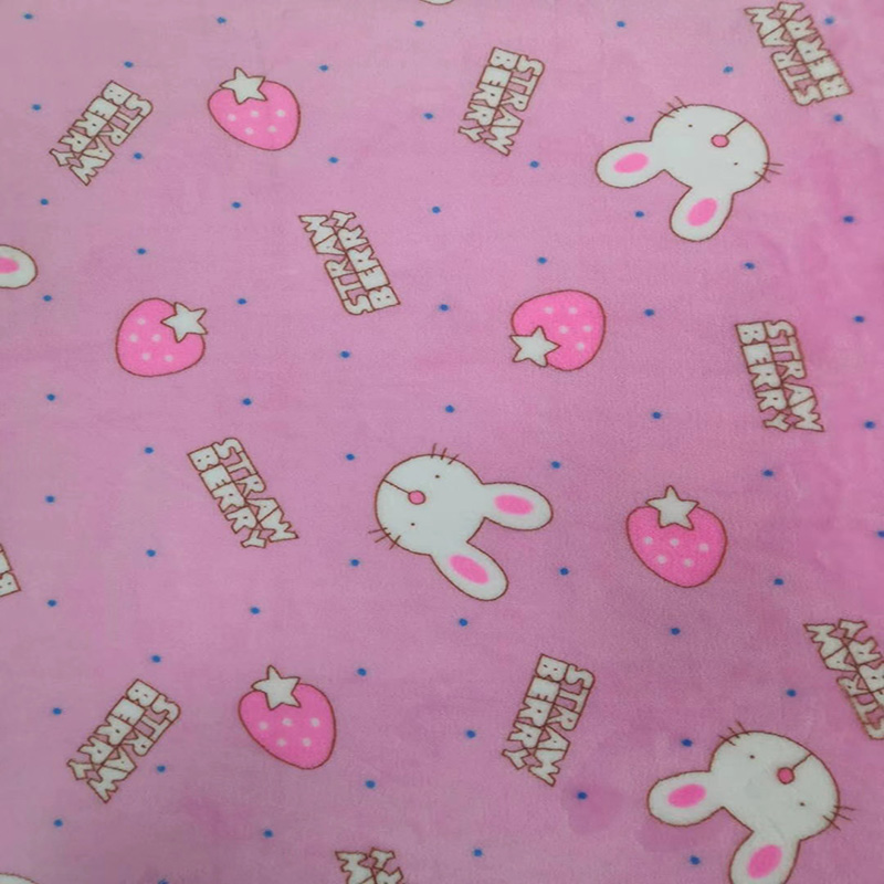 China Custom 100% Polyester Flannel Fleece Kids Baby Animal Printed Microfiber Fabric Cloth For Upholstery Blanket Bed Sheets