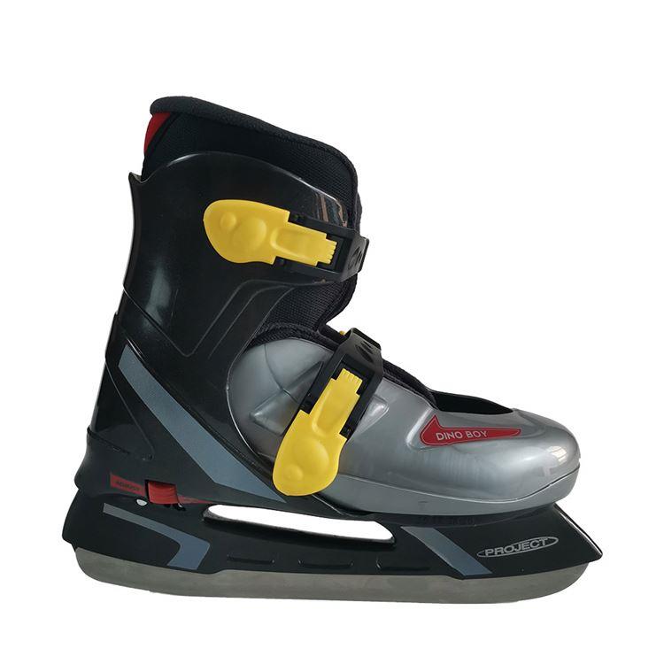 Профессиональные коньки для хоккея с шайбой черного цвета