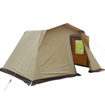 Two bedroom canvas camping tent family, waterproof 4-6 person large canvas glamping tent/