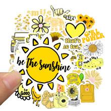 50 шт. мультяшный желтый INS стиль Vsco девушка наклейка s для ноутбука мото скейтборд багаж холодильник ноутбук игрушечный Ноутбук наклейка F5(Китай)