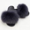 Grey lady fur slipper