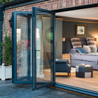 Window Doors Glass Bifold Doors Hihaus Aluminium Thermal Accordian Glass Break Bifold Folding Window Doors