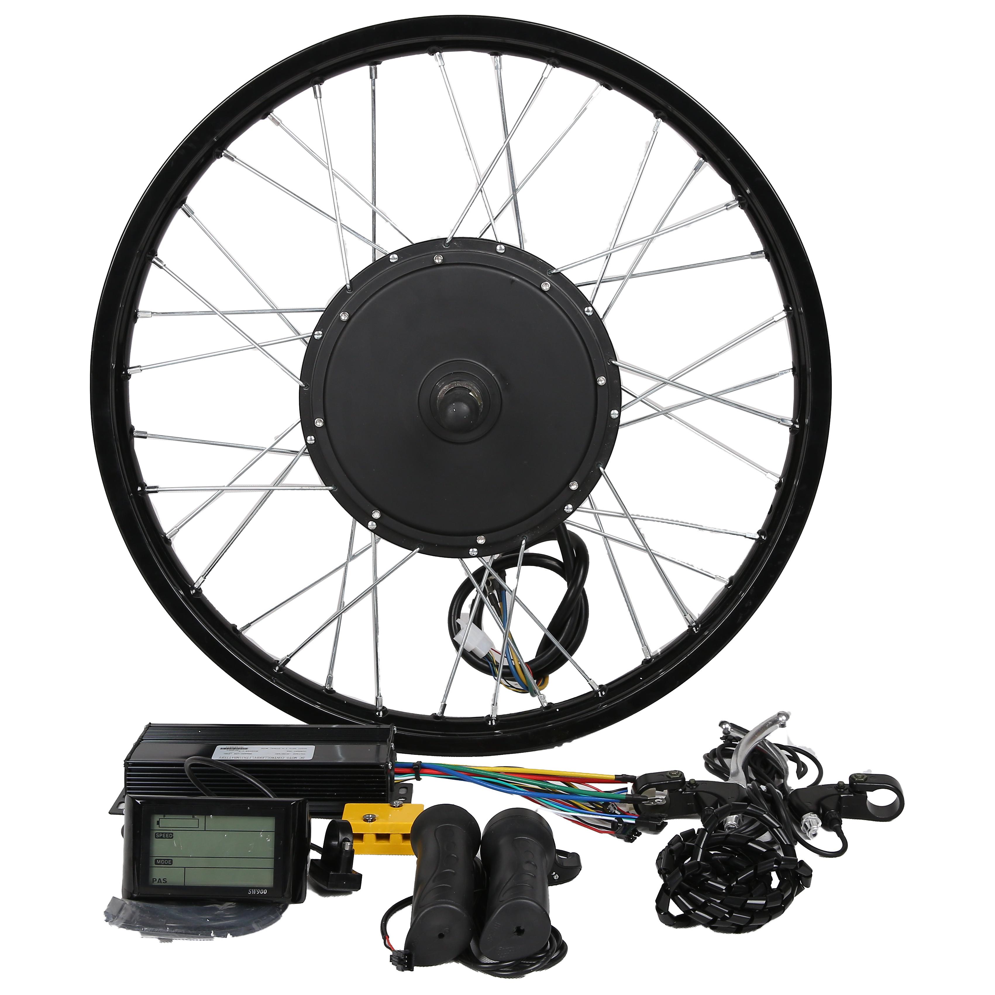 120km/h!High Power60V-96V brushless hub motor 3000w 5000w 8000w e bike conversion kit with 18''19''20''21''26'700C28''29'''wheel
