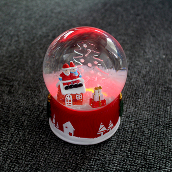 Christmas led custom snow globe