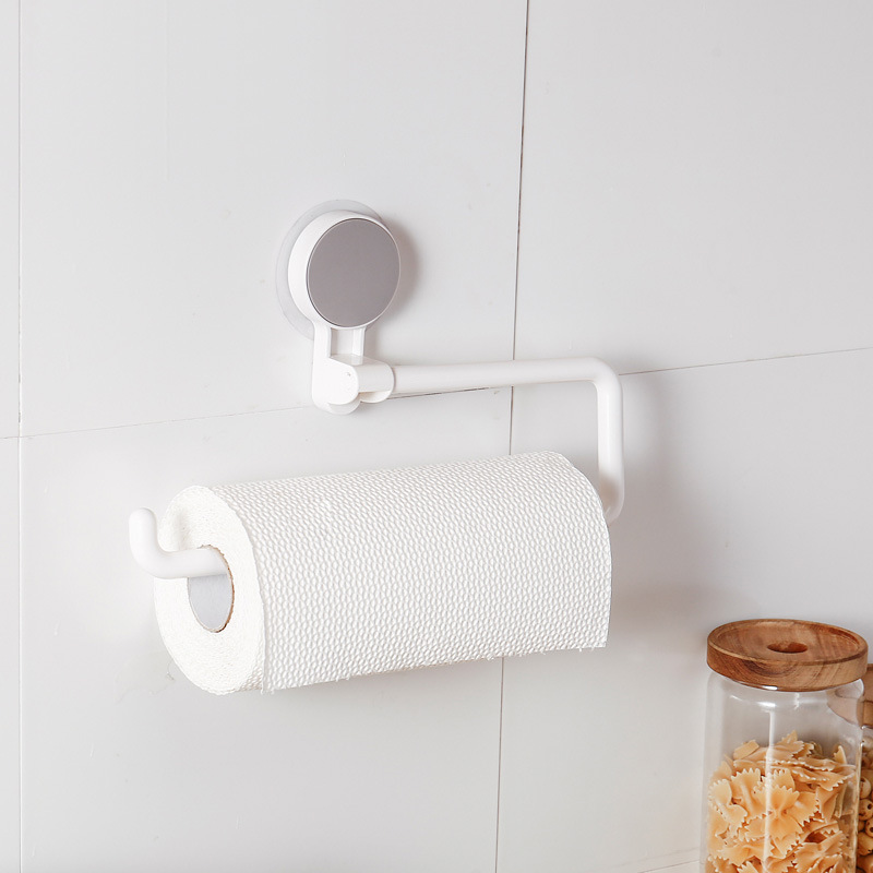 Dropshipping Self adhesive wall mounted plastic standing kitchen toilet tissue paper towel roll pipe holder