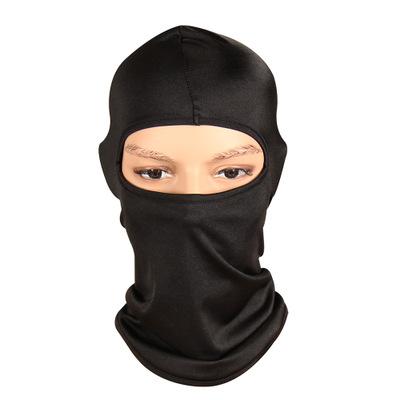 lycra fabric facekini windproof motorcycle helmet full face cover neck warmer head scarf ski one hole silk balaclava mask