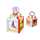 China Toy For Kids ODM OEM Kids Baby Small Wooden Busy Wire Bead Maze Activity Cube Toy For A Children Nursery In China