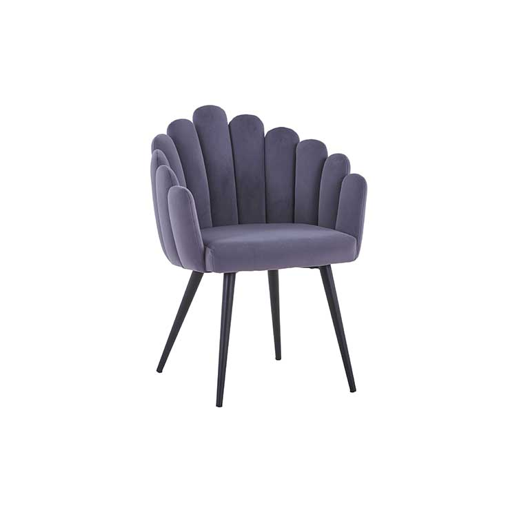 fabric upholstery iron colorful mesh armless upholstered fabrics chair with metal leg high back dining chair