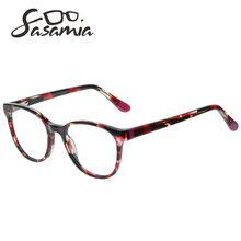 Круглые очки из ацетата, очки для близорукости, очки для женщин, оправа с прозрачными линзами, оправа для оптических очков, женские круглые о...(Китай)