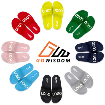 Slippers Custom Made Logo Fashion Street Brand Non-Slip beach Indoor And Outdoor Home Company Gifts Male Sandals And Slippers