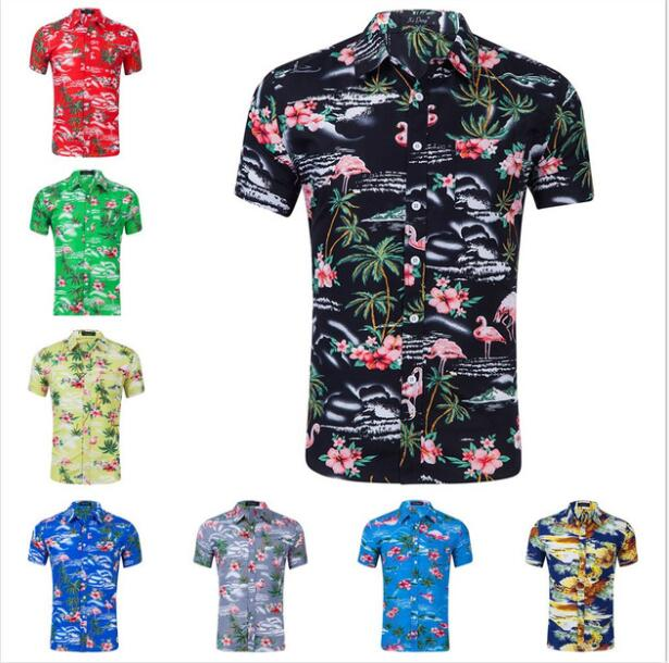 Latest Casual Beachwear Beautiful Shirts Design Hawaii Style Custom Print Oem Short Sleeve Shirt - Buy Hawaii Style Slim Man Shirt,Hawaiian Short ...