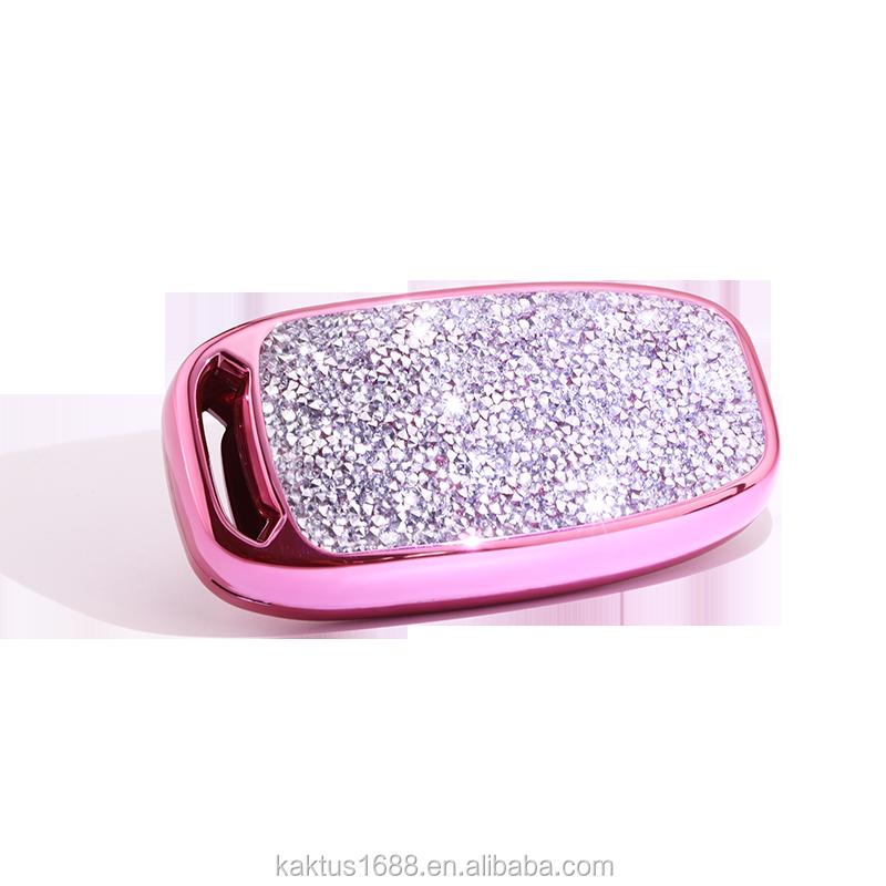 For AUDI Q5 R8 A4A5A6A7A8 S5S6S7S8 RS6RS7 Car Key Case PC Diamond Crystalprotect Cover Car key shell