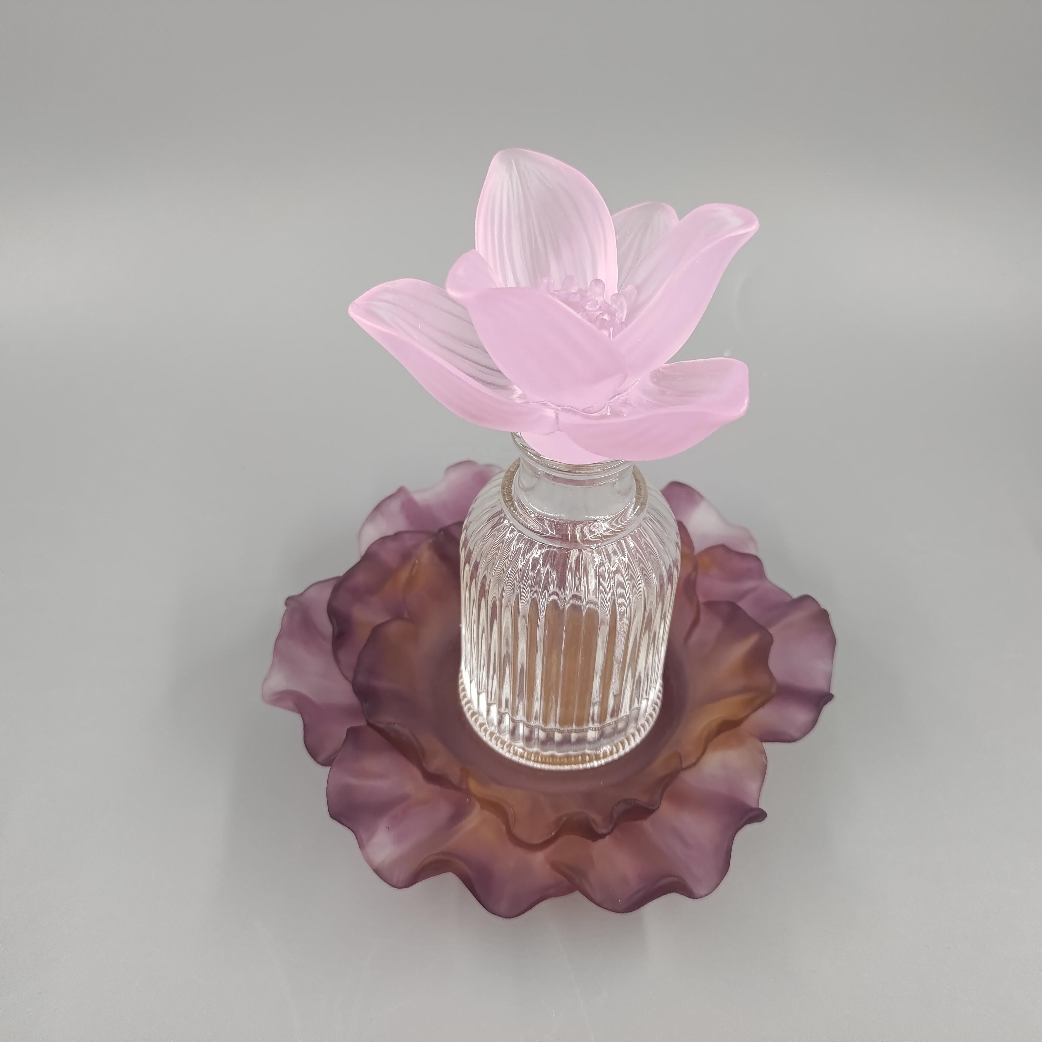 2021 г., европейский стиль, стеклянная бутылка ручной работы с цветами, стеклянная бутылка для духов liu li, подарок