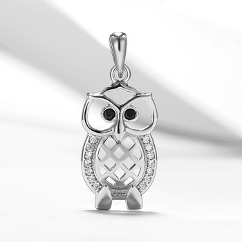 New Product 925 Sterling Silver Owl Pendant Cubic Zircon Animal Owl Pendants Fit Original Necklace Jewelry For Woman Gift