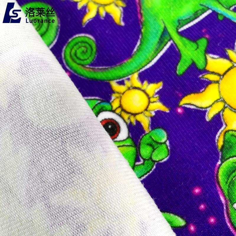 NO MOQ digital custom printed fabric custom printing cotton lycra Fabric