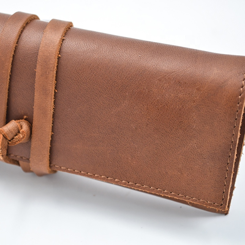 Handmade High Quality Stylish Leather Pencil Case Sunglasses Bag for Sale