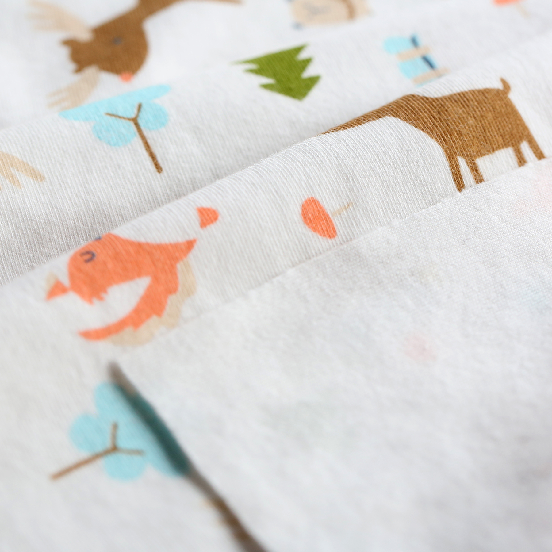 Custom Animal Digital printed Cotton lycra fabric for kids 100% cotton knitted fabric