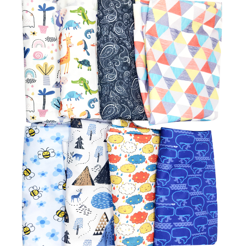 printed Ecological Design to customize 160GSM water cloth diaper to prevent water use pul fabric for cloth diaper free sample