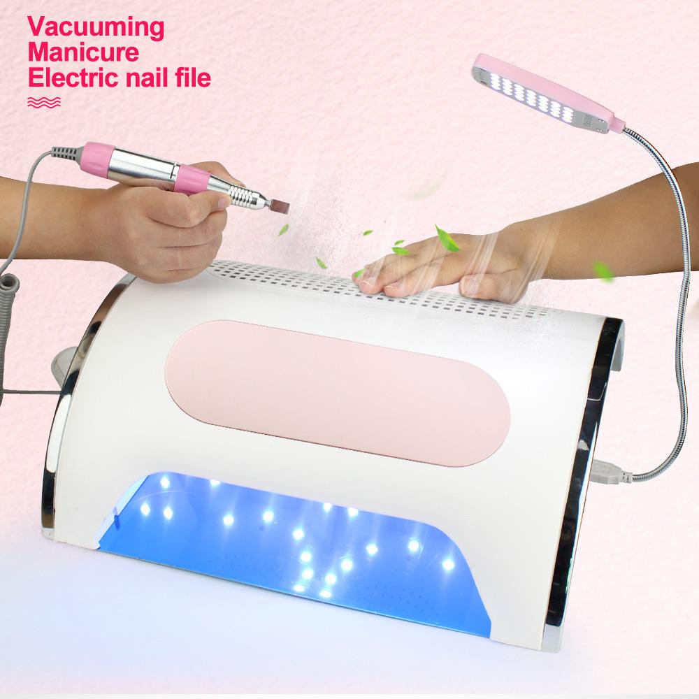 ND-8 3 в 1 Мощный 25000 об/мин Портативный Маникюр пилочка для ногтей искусство наконечник ручки, бесплатный образец UV лампа полировщик с Биты