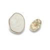 8904#Mat gold&White  20*15mm