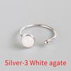 Silver-3 White agate