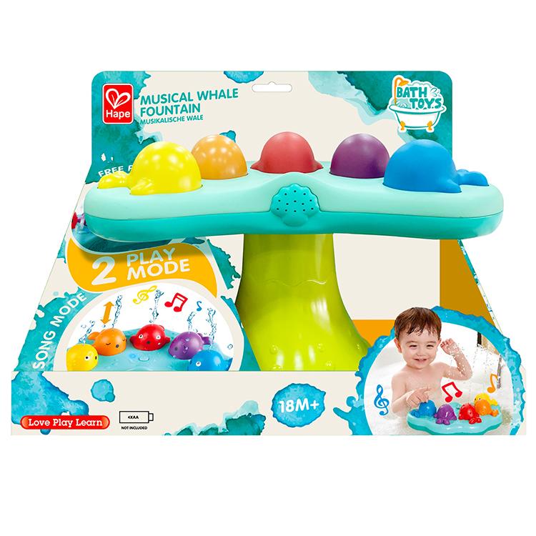 Hape bath  music Summer fountain toy for baby musical whale fountain
