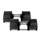 Gym Fitness Equipment 2020 New Automatic Adjustable Dumbbells 80lb for Sale/Dumbbells Buy Online