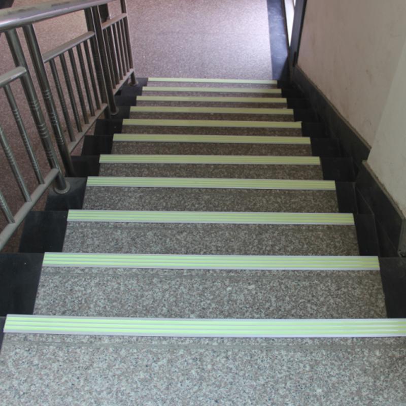 Фотолюминесцентные алюминиевые лестничные ножки/светящиеся в темноте лестничные ножки