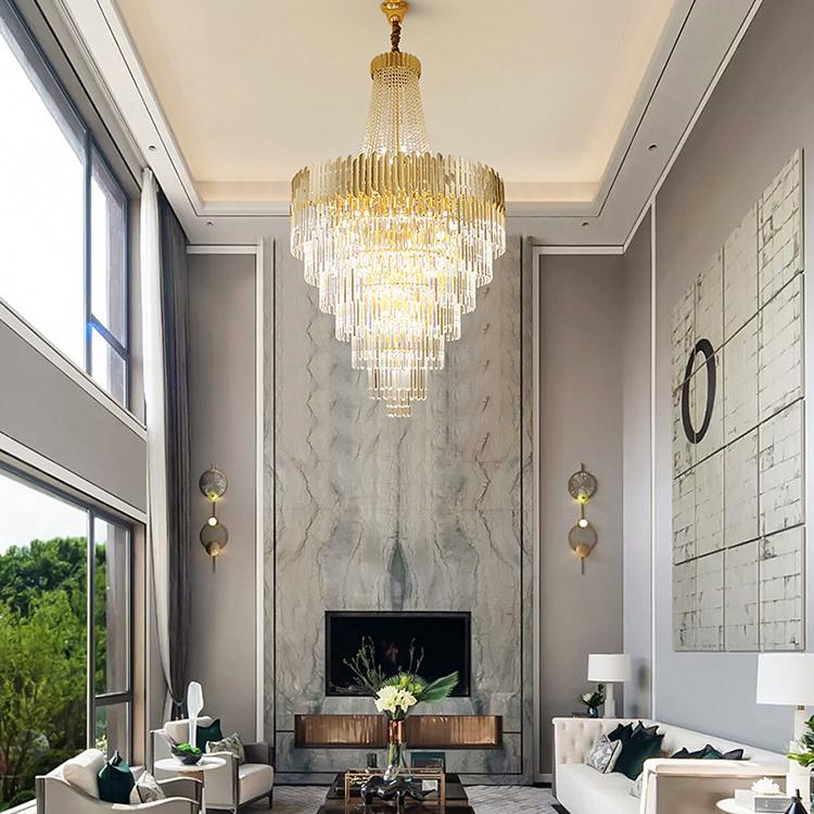 Modern Home Dining Room Kitchen Decor Stainless Steel Crystal LED Pendant Chandelier Lamp