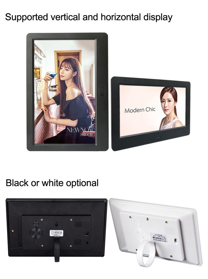 Лидер продаж, тонкая электронная цифровая фоторамка с ЖК-дисплеем размером 7, 8, 10 дюймов, с петлей для фото и видео
