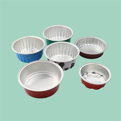 Gold Aluminum Foil Bakery Tray Disposable Cup With Lid For takeaway