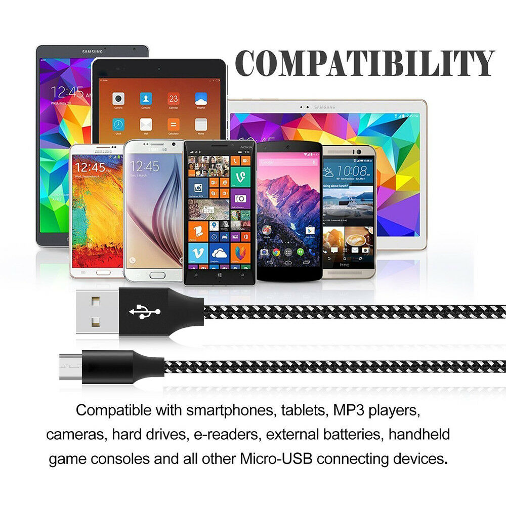 2021 Braided V8 20cm 1m 1.5m 2m 3m 5m Charging Usb Micro Data Cable Micro Usb Cable