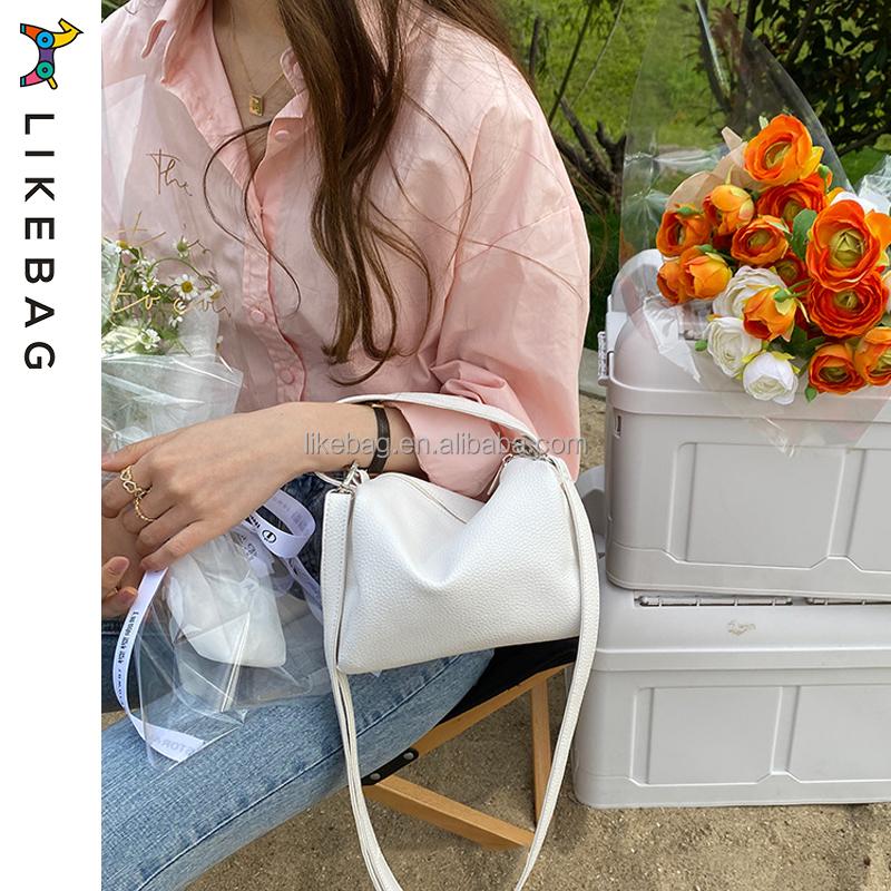 LIKEBAG fashion Solid color PU leather women crossbody bag luxury messenger bags handbag shoulder bag for ladies