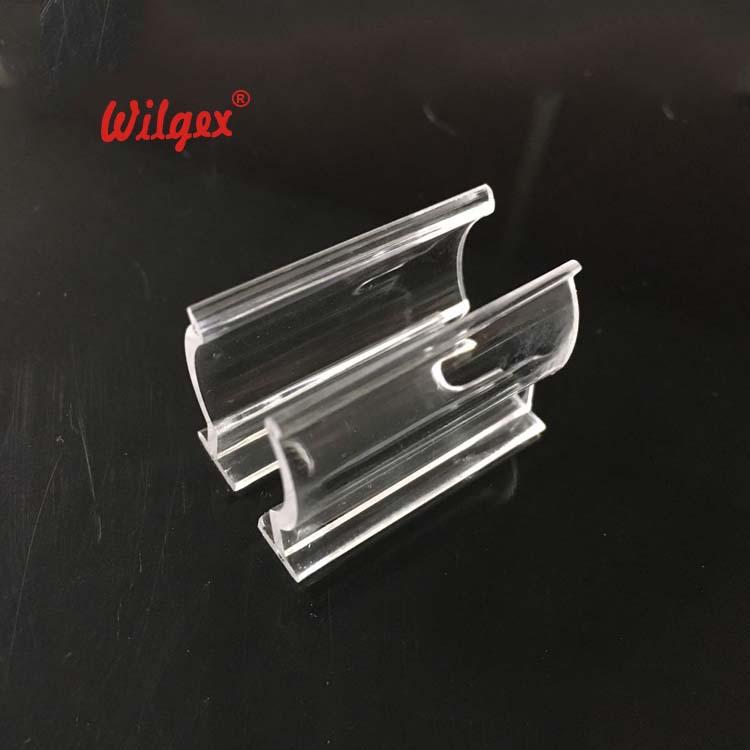 LED Neon Flex 360 Degree Round Type Plastic Transparent Install Clip 3cm each