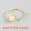 Gold-9 Pink Crystal