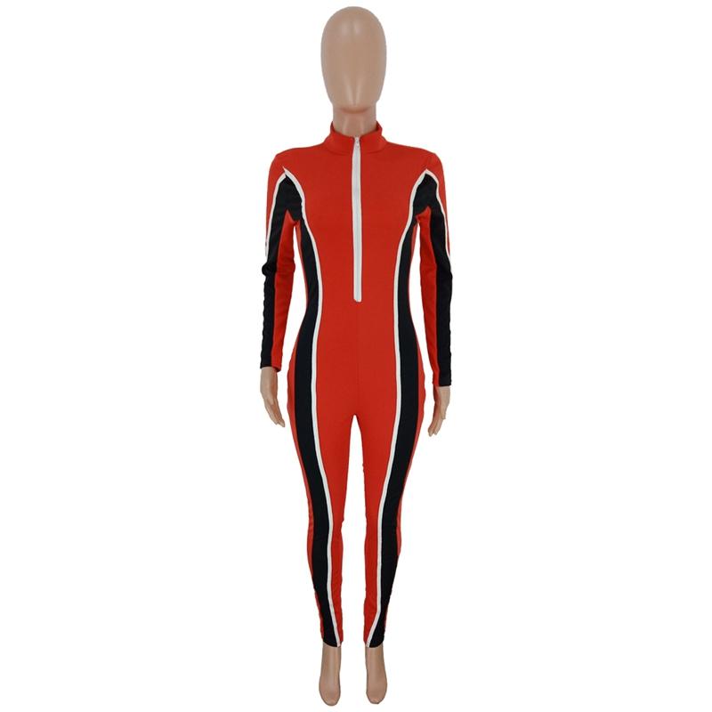 HAOYUAN, сексуальный Облегающий комбинезон, модная одежда, цельный спортивный костюм, элегантные комбинезоны с длинным рукавом, женский комбин...(Китай)