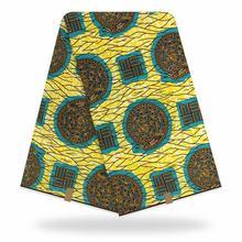 Африканская настоящая восковая хлопковая Оригинальная Ткань Анкары 2020 африканская ткань с принтом для свадебного платья африканская ткан...(Китай)