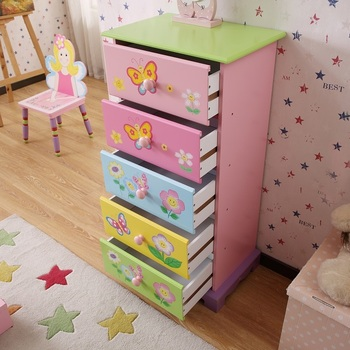 Kids furniture Kids wooden bedroom furniture storage case New design Wooden kids drawers Storage cabinet