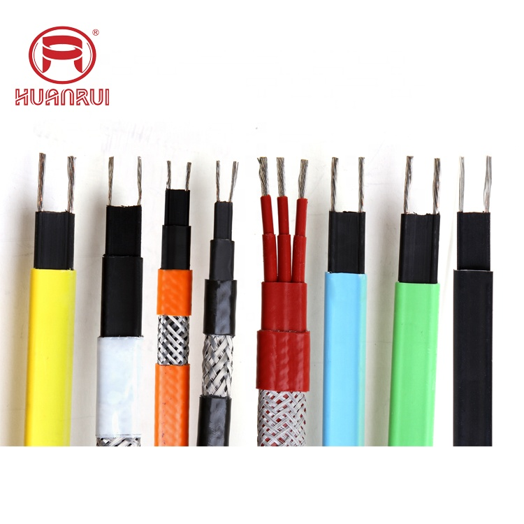 Self regulating heating cable for outdoor roof gutter de-icing and pipe heating frost protection