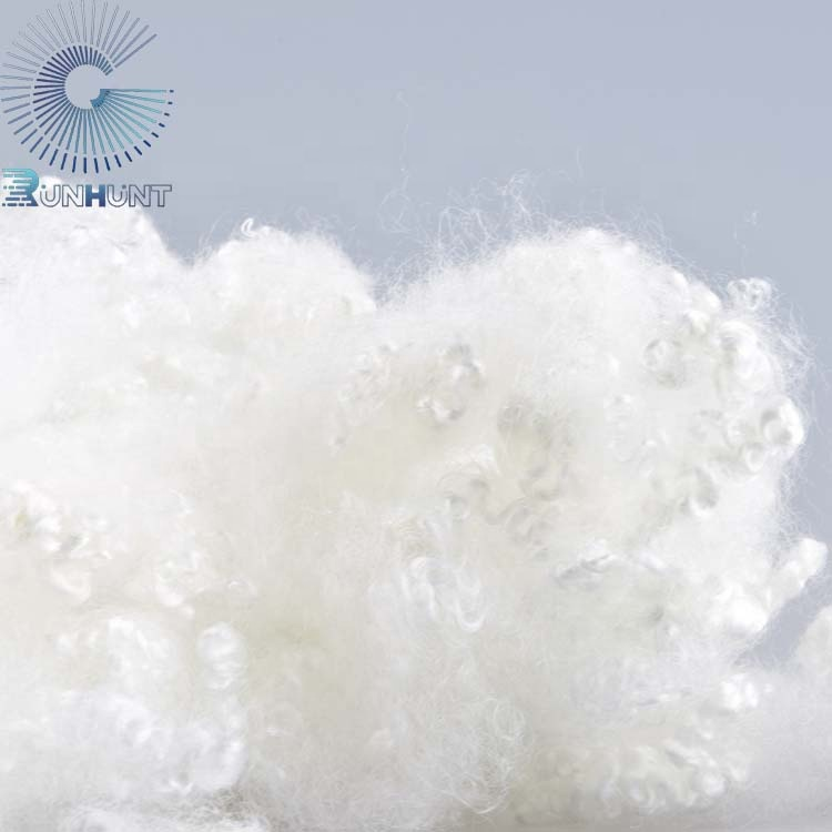 Wholesale Stuffing Material Hollow Conjugated Recycled Polyester Fibre For Filling Toy Sofa Beds Quilt RUNHUNT