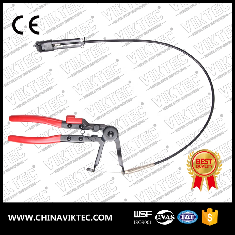 Special flexible long cable type Auto Vehicle Tools reach hose clamp pliers for car repair