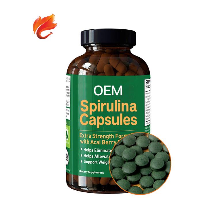 ISO Certificates Spirulina Extracts Spirulina Capsules