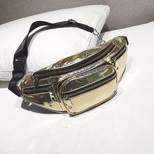 Модная поясная сумка из искусственной кожи для женщин, нагрудная сумка, сумка через плечо с цепочкой, унисекс, противокражная сумка-мессенд...(Китай)