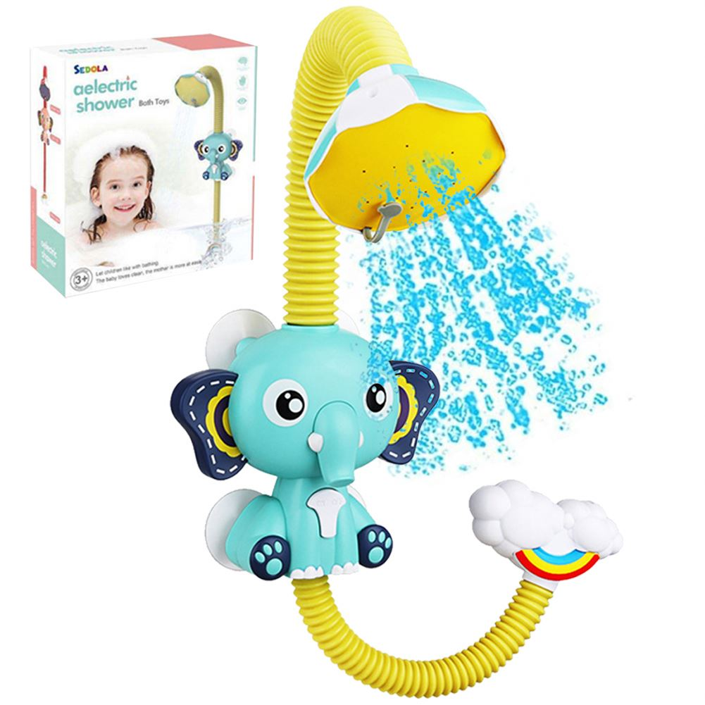 Children Electric Durable Bath Toys Kids Shower Head Spout Rinser Elephant Water Pump Baby Water Shower Bath Toys