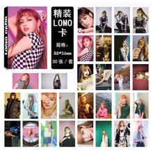 Фотокарта Kpop BLACKPINK для любителей коллекции, 30 шт./компл., фотооткрытки в альбом JISOO JENNIE ROSE LISA, HD принт, высокое качество, K-pop(China)