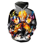 Hoodies Lined Wholesale Selected Fabric Oversized Cartoon Printed Men Sports Hoodies