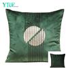 Verde scuro Del Ricamo Del Velluto Della Decorazione Cuscino Per Divano