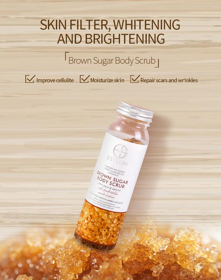 Pure Brown Sugar Sweet Almond Oil ESTELIN Exfoliating Body Scrub